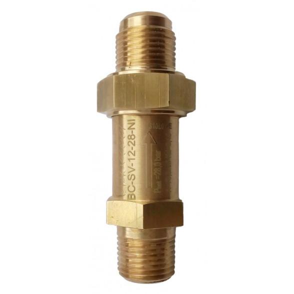 """Предохранительный клапан прямоточный BC-SV-12-28NI 1/2""""NPTх5/8 SAE"""