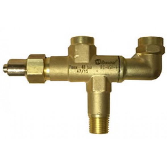 """Вентиль для предохранительного клапана BC-VSV-1  1/2"""" NPT х 1/2"""" NPT"""